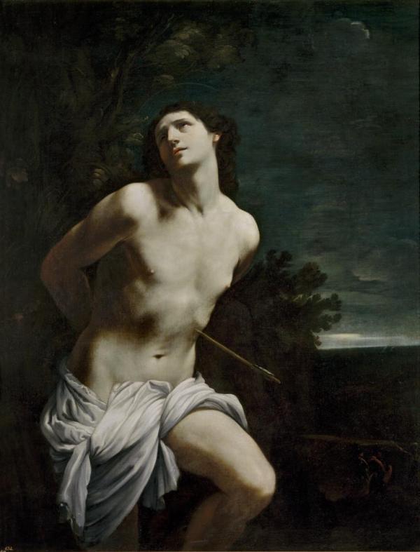 Guido Reni Italian 1575–1642 Saint Sebastian (San Sebastiano) 1615–20 oil on canvas 170.5 x 133.0 cm Museo Nacional del Prado, Madrid (P00211) Spanish Royal Collection