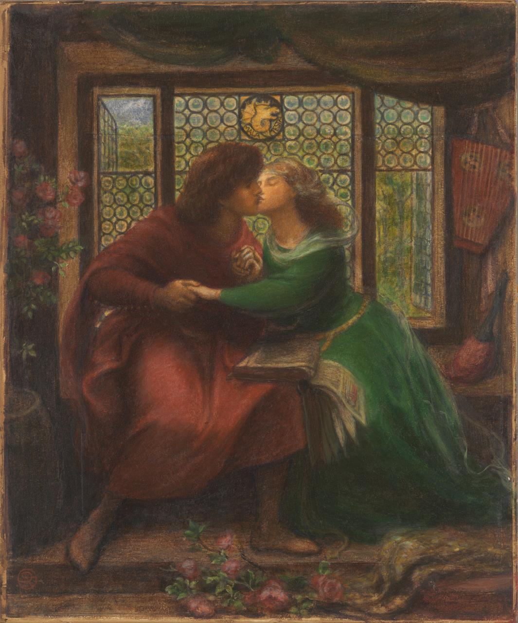 Image of painting by Dante Gabriel Rossetti Paolo and Francesco da Rimini