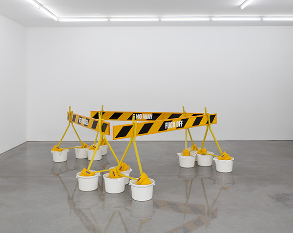 Image: Tony Schwensen Border Protection Assistance Proposed Monument for the Torres Strait (Am I ever going to see your face again?) 2002 Image courtesy the artist and Sarah Cottier Gallery, Sydney