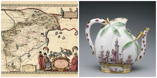 Workshop image - map and teapot