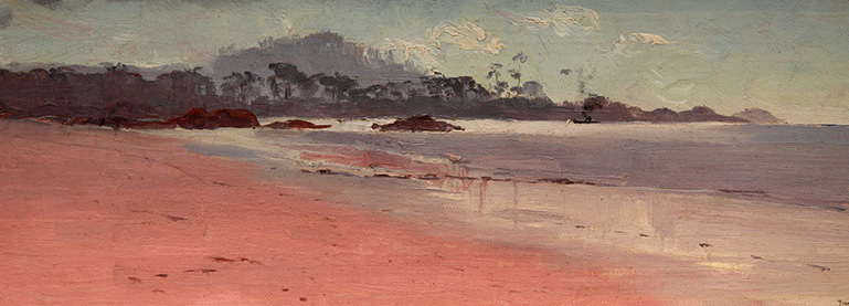 Thomas William Roberts, Ulverstone Beach, 1931, oil on canvas on composition board. Purchased with funds from the Launceston Museum and Art Gallery Foundation, 2008 (detail).
