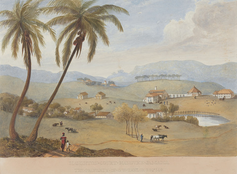 Image: James Hakewill, Haughton Court, Hanover, Jamaica, Yale Center for British Art, Paul Mellon Collection