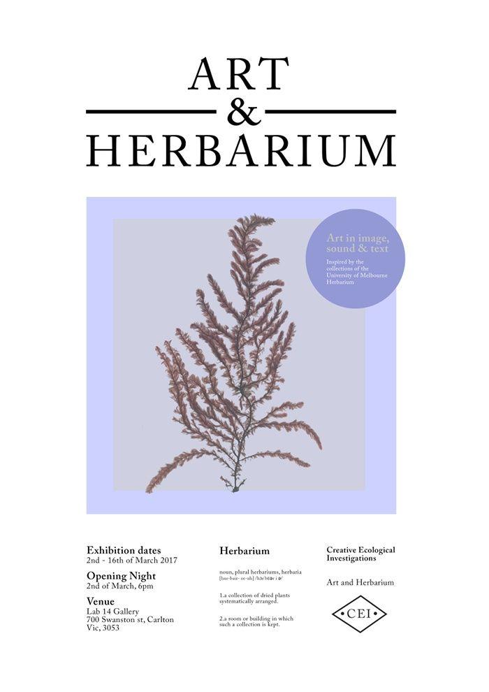 ARt and HErbarium invite picture