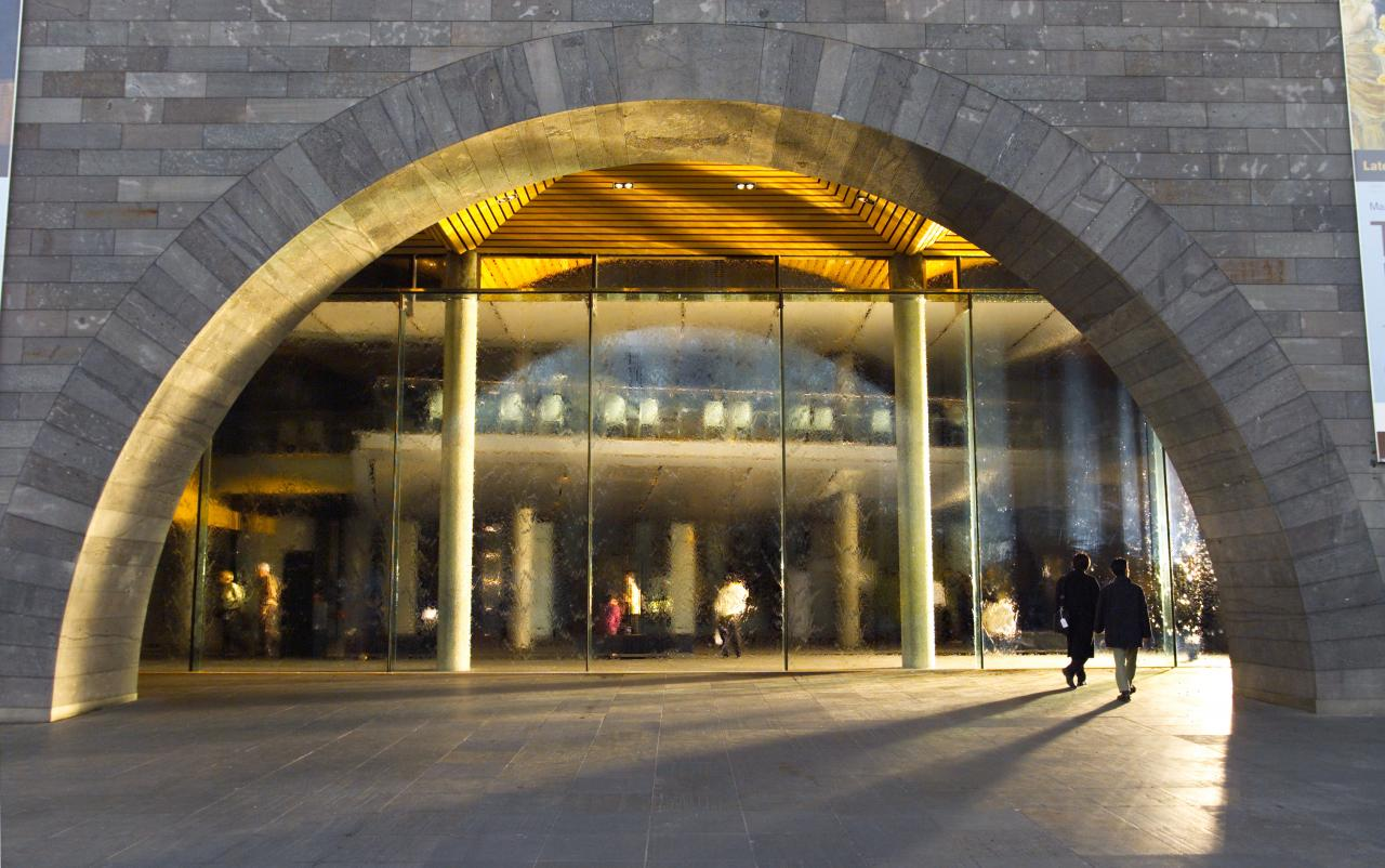 A photograph of the entrance to the NGV