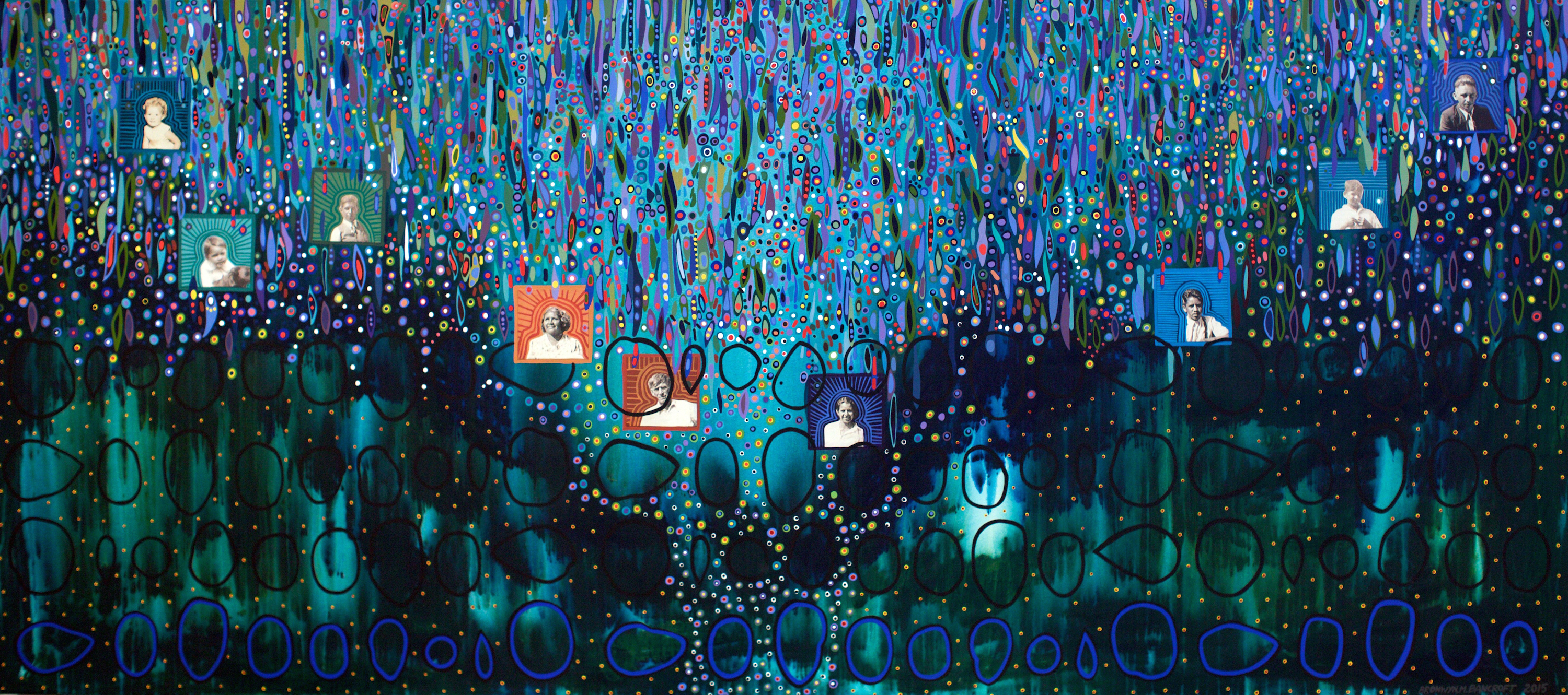 Bronwyn Bancroft, Falling Through Time (Riverstone series), 2012. Courtesy of the artist.