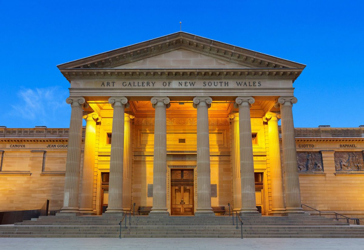 A photograph of the main facade of the Art Gallery of New South Wales