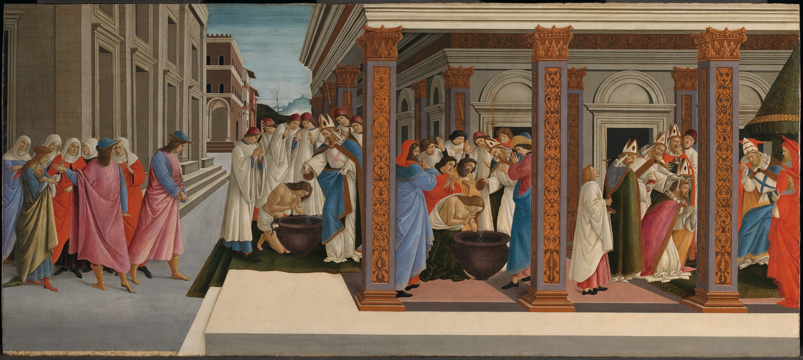 Botticelli's painting 'Four scenes from the life of St Zenobius'