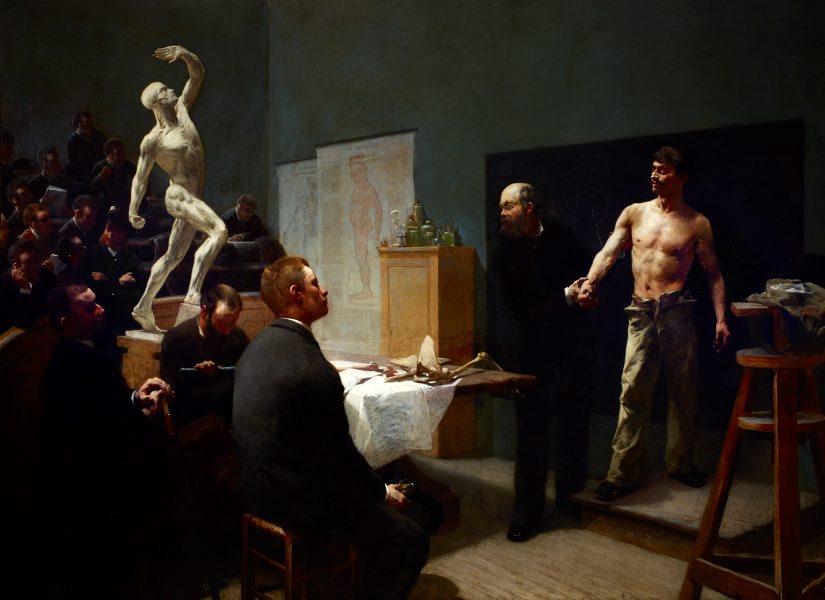 'The Anatomy Class at the École des Beaux-Arts': a painting by François Sallé
