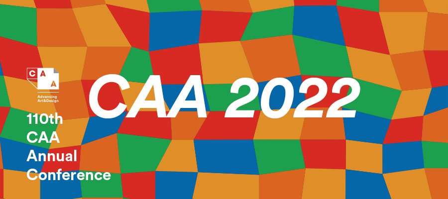 A promotional image for the CAA 2022 conference