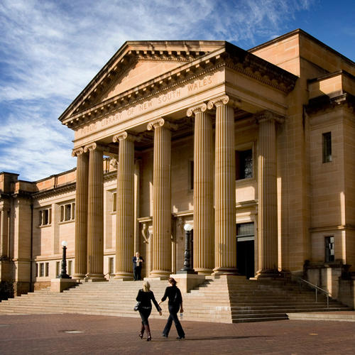 A photo of the entrance to the State Library of NSW