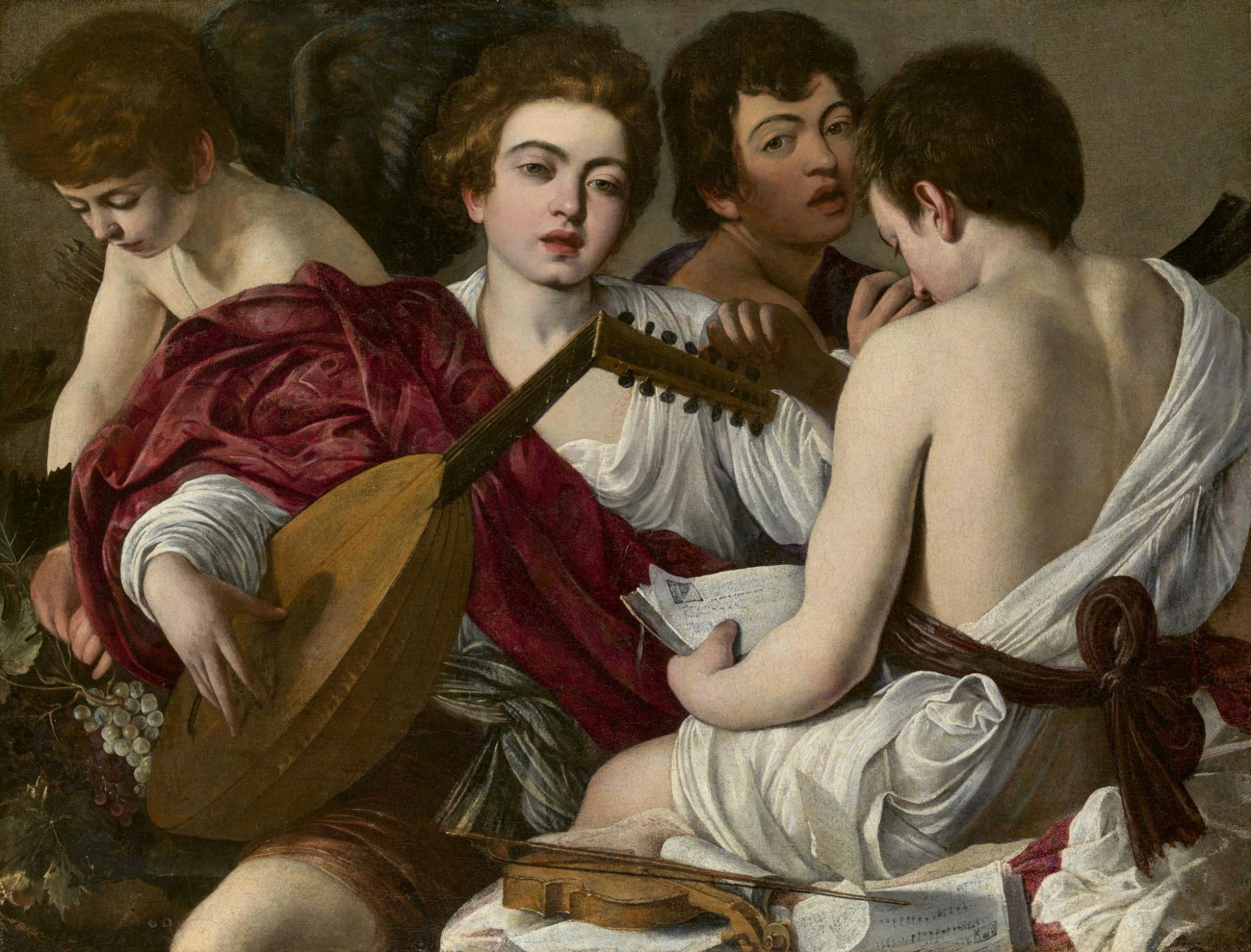 Caravaggio's painting 'The Musicians'