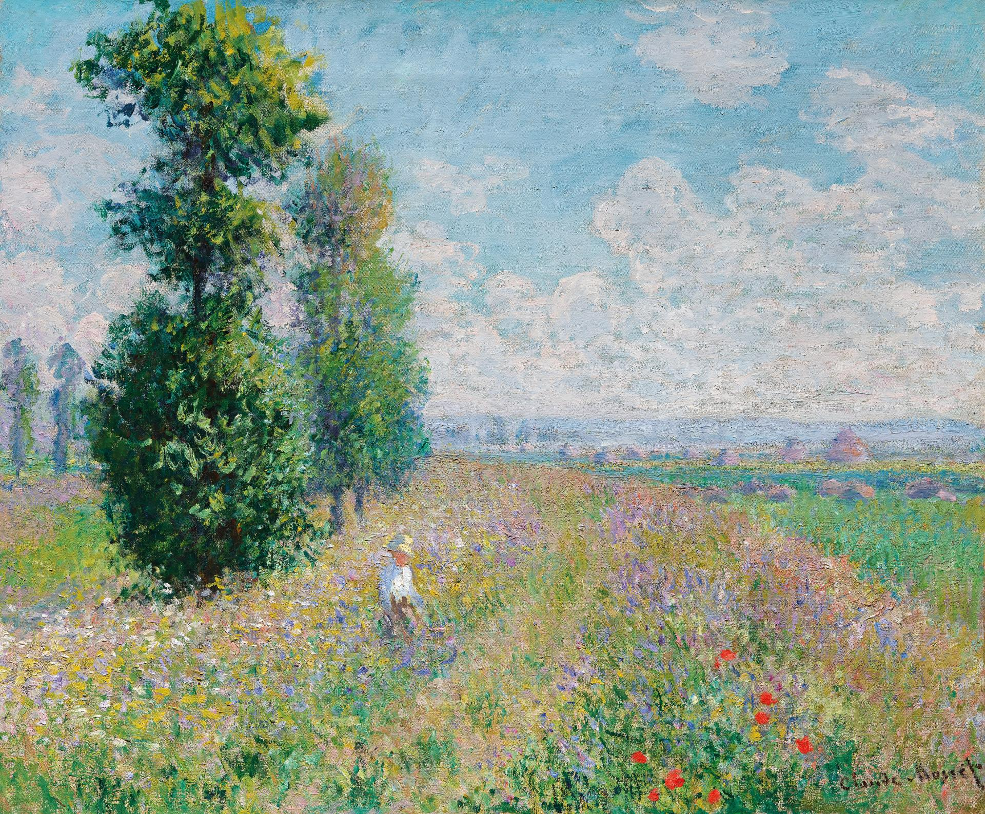 Monet's painting 'Meadow with poplars'