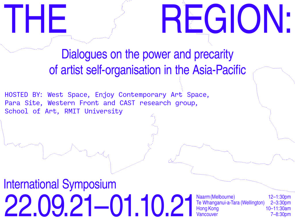 Banner image for The Region: dialogues on the power and precarity of artist self-organisation in the Asia-Pacific